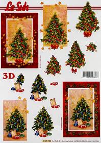 3D Bogen Weihnachtsbaum - Format A4
