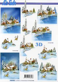Feuille 3D Weihnachtsstimmung - Format A4