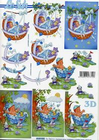 Hojas de 3D Babyboy - Formato A4