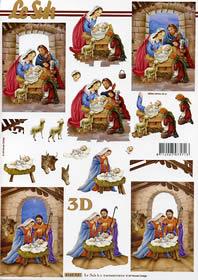 Hojas de 3D Weihnachtskrippe Format A4