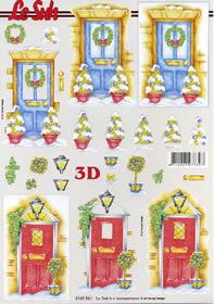 3D Bogen Weihnachtstür - Format A4