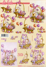 Feuille 3D Baby´s - Format A4