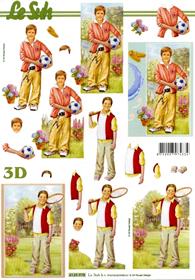 3D sheet Jungen - Format A4
