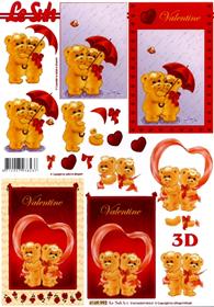3D sheet Format A4 - Valentinstag