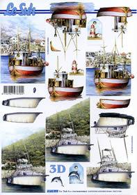 Feuille 3D Schiffe - Format A4