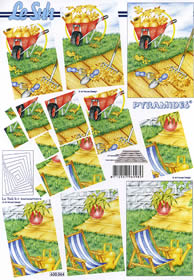 Feuille 3D Pyramides - Format A4