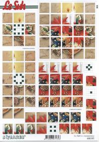 Hojas de 3D Squares - Formato A4