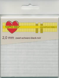 Form-Pads 2,0 mm - 5x5 mm - black