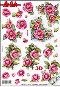 3D sheets punched out 2x Blumen - Format A4
