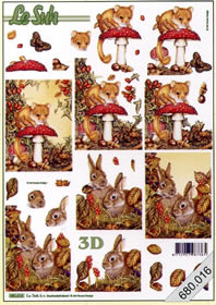 3D sheets punched out 2x Herbst - Format A4