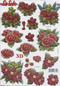 3D sheets punched out Blumen - Format A4