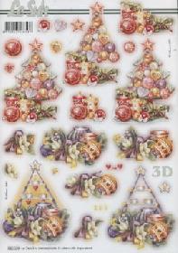 3D arco  Weihnachten Baum - Formato A4