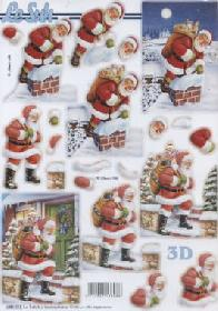 3D sheets punched out Weihnachtsmann I - Format A4