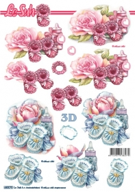 3D sheets punched out Format A4 Babyschuh