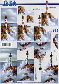 3D sheet Leuchtturm - Format A4