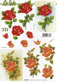 3D sheet Rose - Format A4