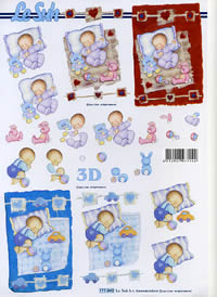 Feuille 3D New Baby Format A4