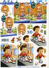 3D Bogen Schulanfang - Format A4