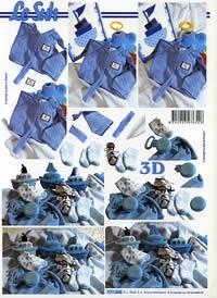 3D Bogen Babysachen Junge - Format A4