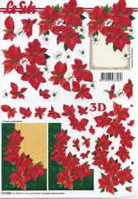 3D sheet Weihnachtsblume im Rahmen - Format A4
