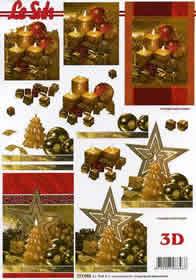 3D sheet Weihnachtskerze - Format A4