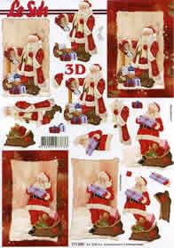 3D Bogen Weihnachtsmann