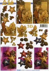 3D sheet Weihnachtsschmuck - Format A4