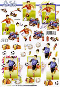 3D Bogen Format A4 Fussball