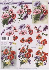 3D Bogen 2x Blumenstrau? Format A4