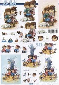 Hojas de 3D Kinder Format A4