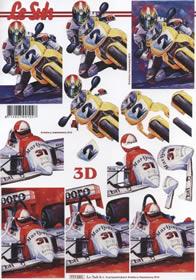 3D sheet Motorrad,Auto - Format A4