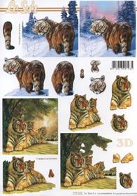 3D sheet 2x Tiger Format A4