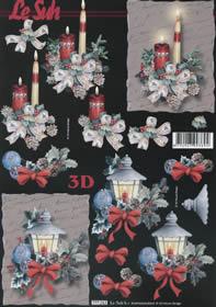 3D sheet Weihnachtsstrauss - Format A4