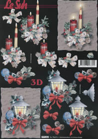 Hojas de 3D Weihnachtsstrauss - Formato A4