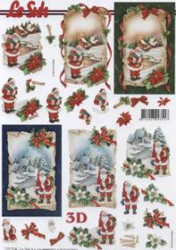 3D sheet Weihnachtsmann - Format A4