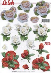 3D Bogen Format A4- Rosen