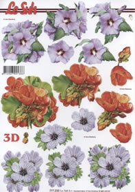 Hojas de 3D Format A4- Blumen
