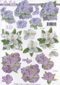 Hojas de 3D Format A4-Blumen Lila