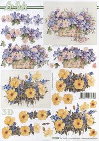 3D Bogen 2x Blumenkorb Format A4