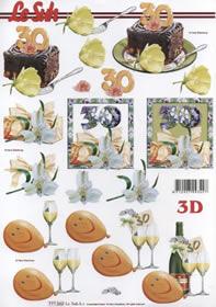 Feuille 3D Jubiläum 30 Jahre Format A4 -