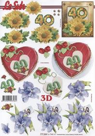 3D sheet Jubiläum 40 Jahre Format A4