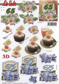 3D sheet Jubiläum 65 Jahre Format A4 -