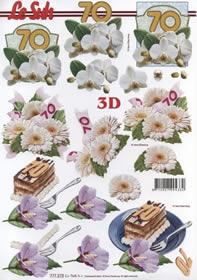 3D sheet Jubiläum 70 Jahre Format A4 -