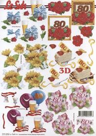 Hojas de 3D 80. Geburtstag