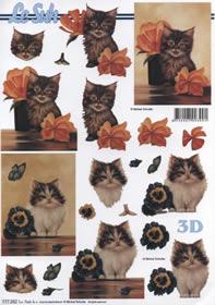 3D sheet Katze