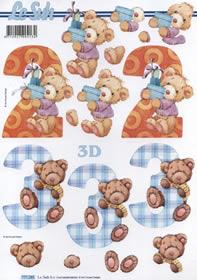 Hojas de 3D 2+3 Jahre - Formato A4