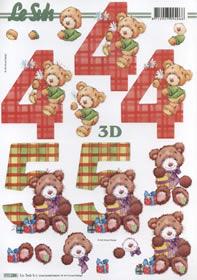 3D sheet 4+5 Jahre Format A4