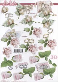 3D Bogen Eheringe - Format A4