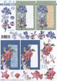 Hojas de 3D Format A4-Blumen auf Karte