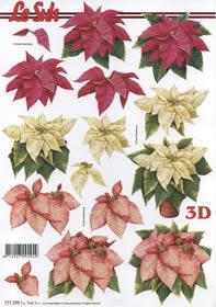 Hojas de 3D Weihnachtsstern Format A4